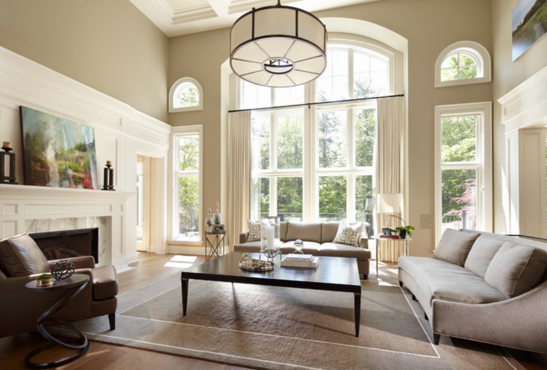 Greensboro interior design window treatments greensboro for Interior design living room transitional