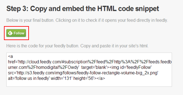Paso 3: copia e incrusta el código HTML.