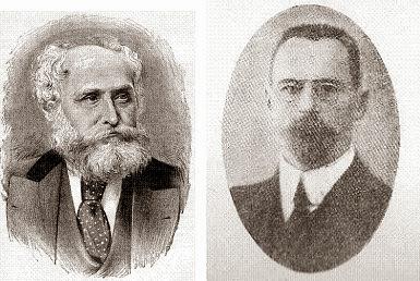 Los compositores de ajedrez Bernhard Horwitz y Alexei Troitzky