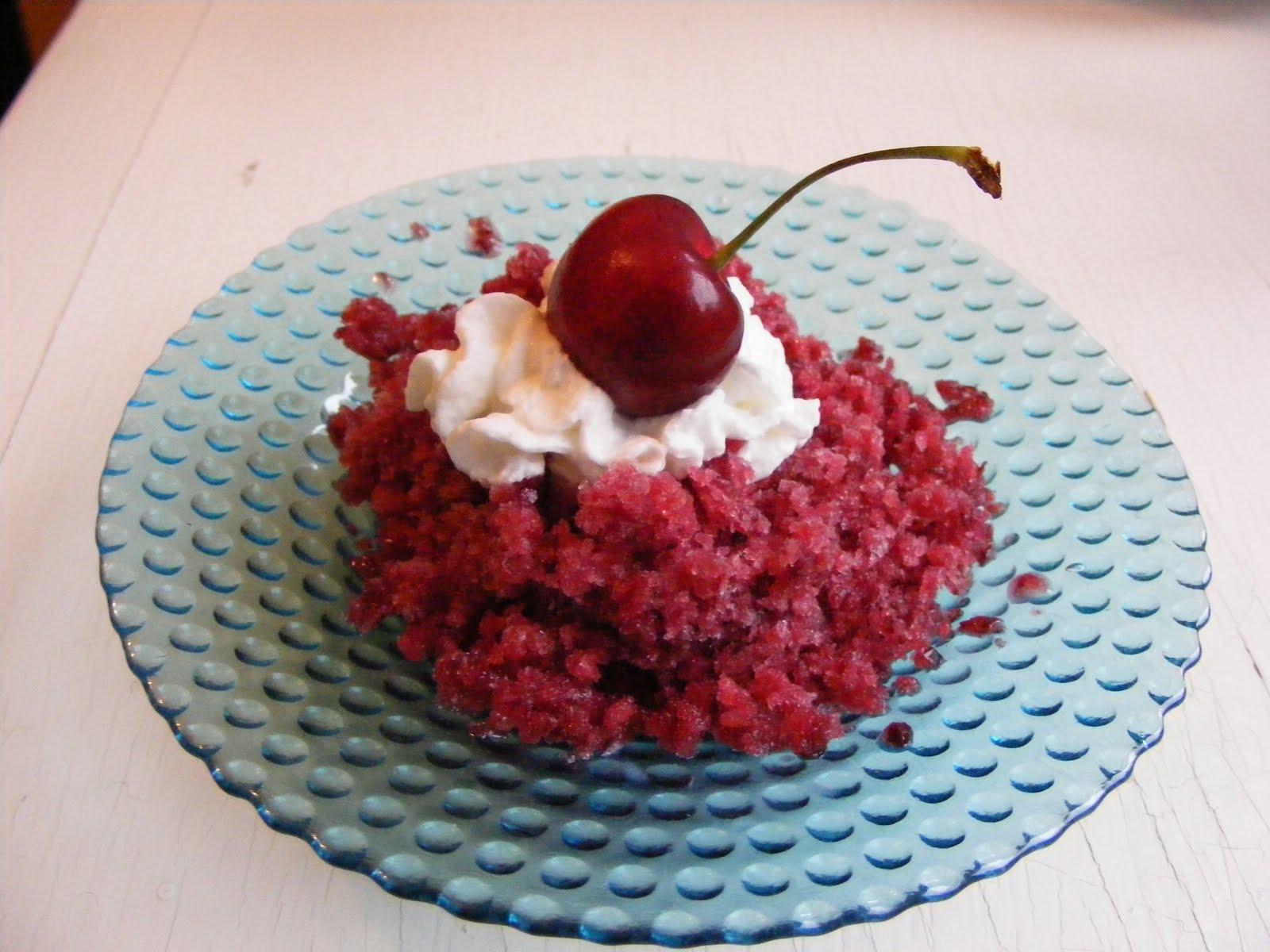 The Virtual Goody Plate: Sweet Cherry Granita
