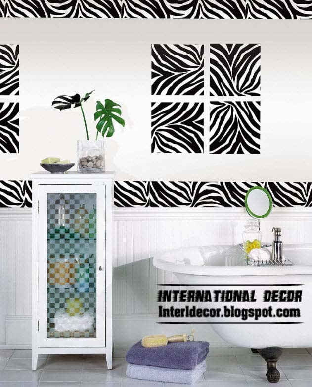 The best zebra print decor ideas for interior designs for Animal print bathroom ideas