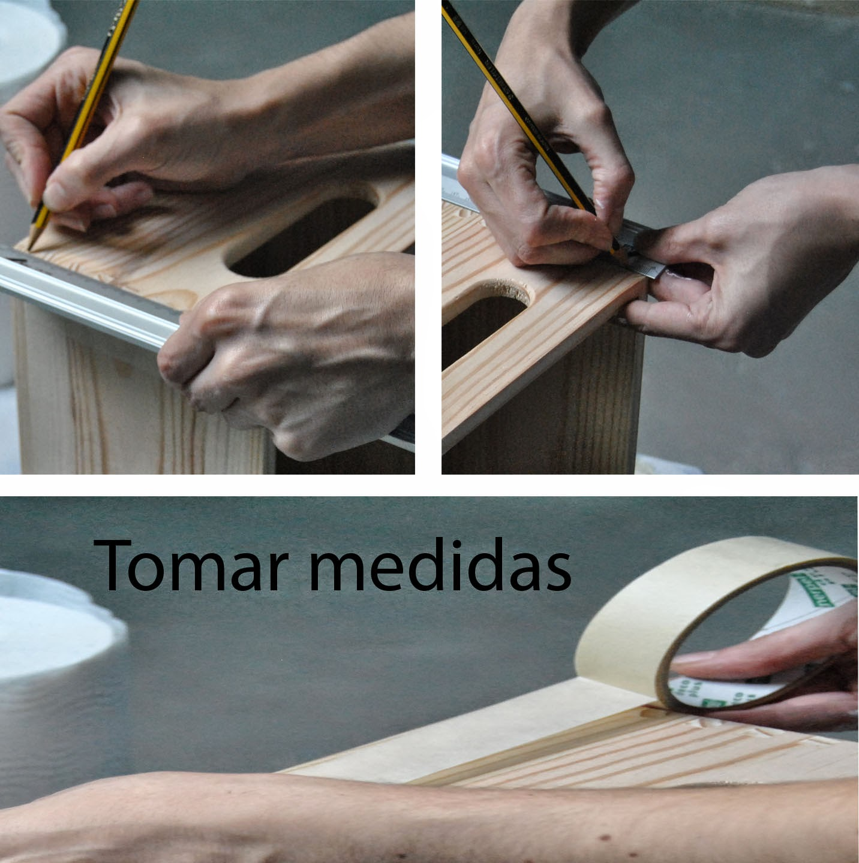 DIY tutorial decorar teñir cajas madera rojo negro