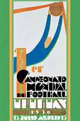 Póster Primer Mundial de Fútbol de 1930