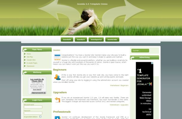 Free Joomla Health Green Theme Template