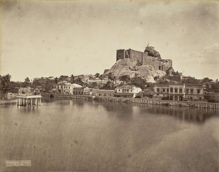 Rock Fort Temple Complex in Tiruchirapalli, Tamil Nadu 1880
