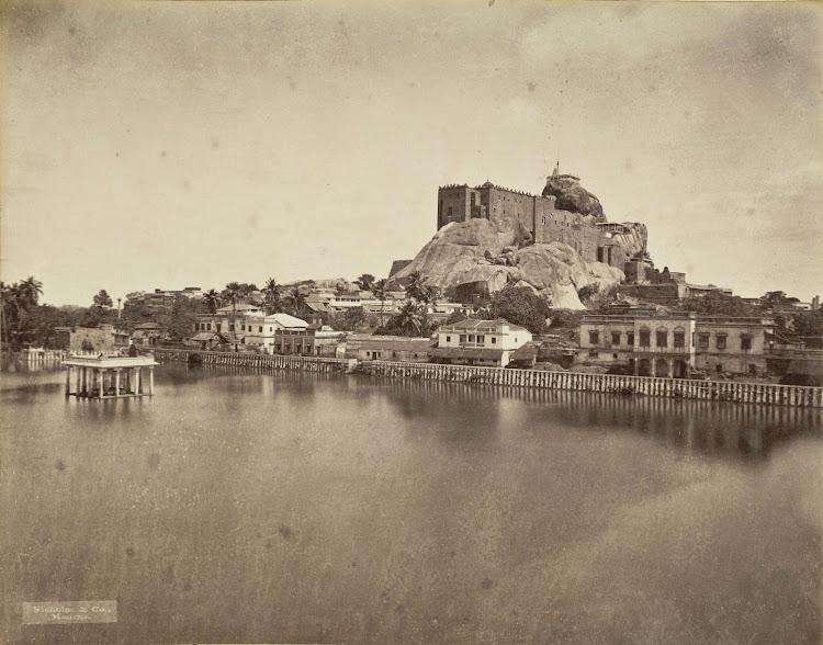 Rock Fort Temple Complex in Tiruchirapalli, Tamil Nadu 1880