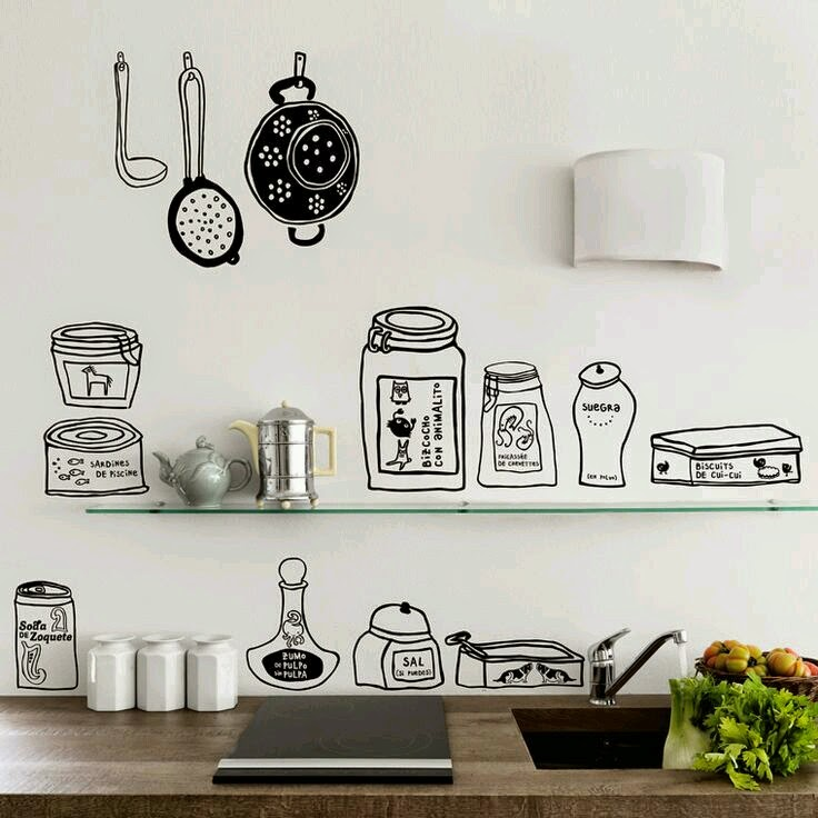 Detr s de mi puerta small lowcost decora la cocina con - Cocinas con vinilo ...