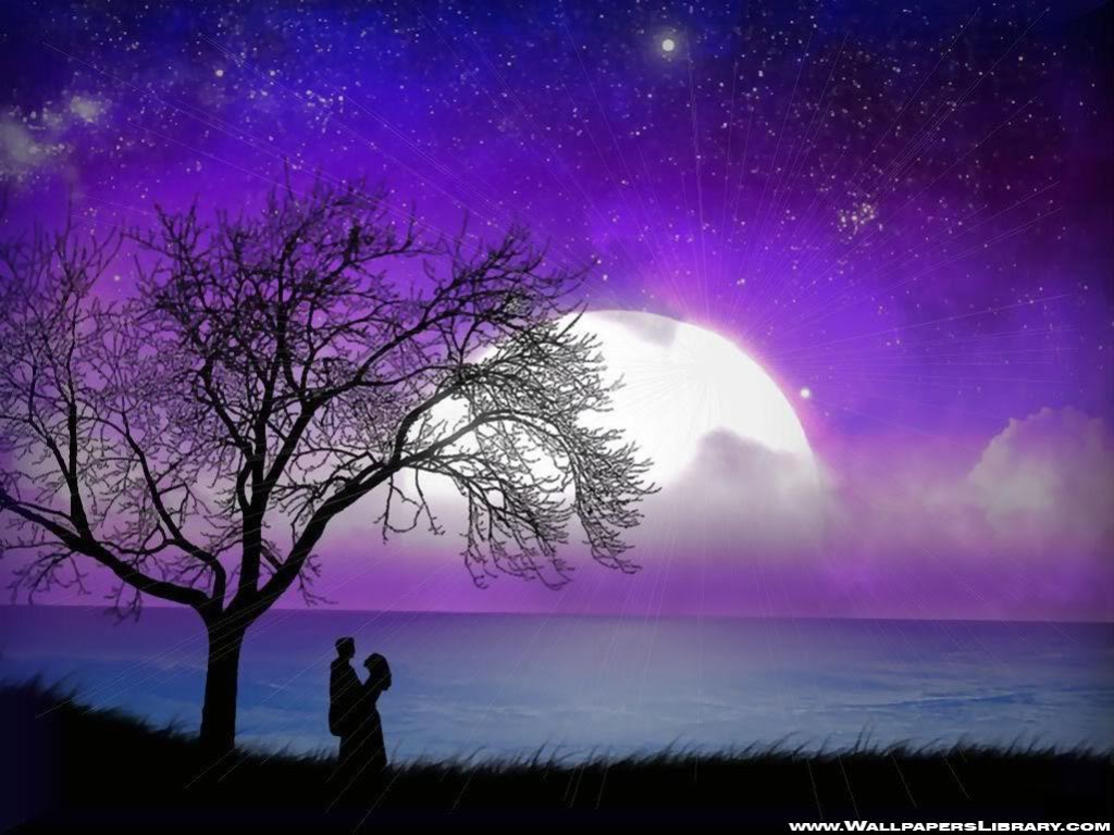 Moon Wallpapers Romantic Moonlight Sky At Night Backgrounds Scenery Nature Designs - On Celebs World