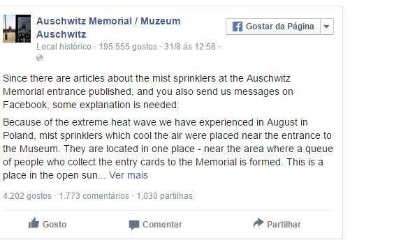 Chuveiros em Auschwitz chocam visitantes
