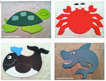 http://www.teacherspayteachers.com/Product/under-the-sea-craftivities-printables-230400