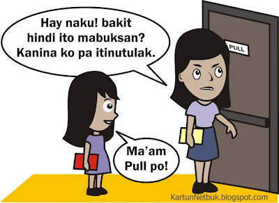 pinoy cartoon pull the door