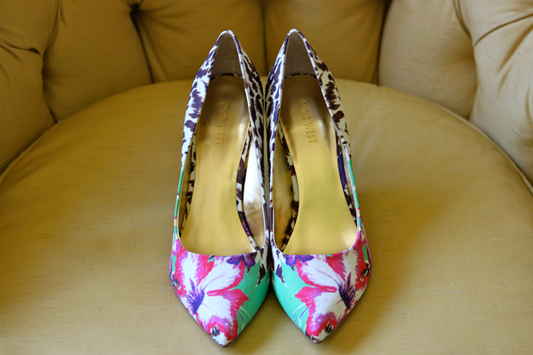 Firece combo: floral-and-leopard-print pumps