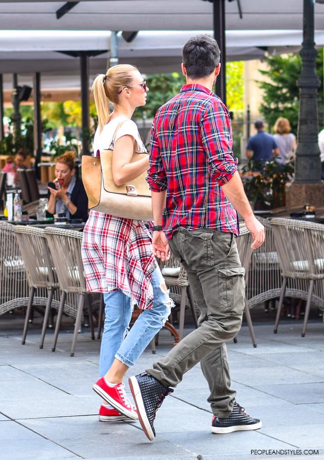 Marijana Ćosić, Andrej Pašalić, Street style Zagreb, Croatia by People & Styles, end of summer fashion