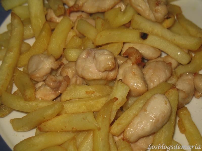 Pollo con patatas en Actifry
