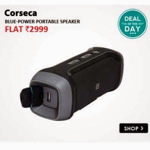 Snpadeal: Buy CORSECA Blue-Power Portable Speaker Rs.2715