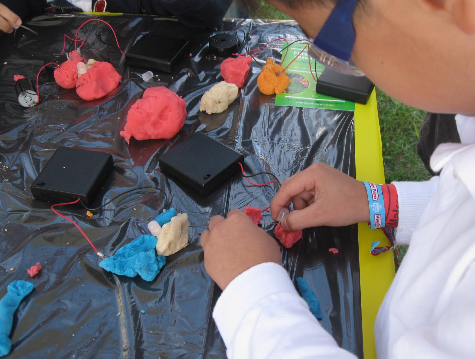 Toys As Tools Educational Toy Reviews Electrify Learning With Electrical Circuit Kits Kids And Parents Constantly Surrounded The University Of St Thomas Squishy Circuits Booth At Maker Faire In New York City
