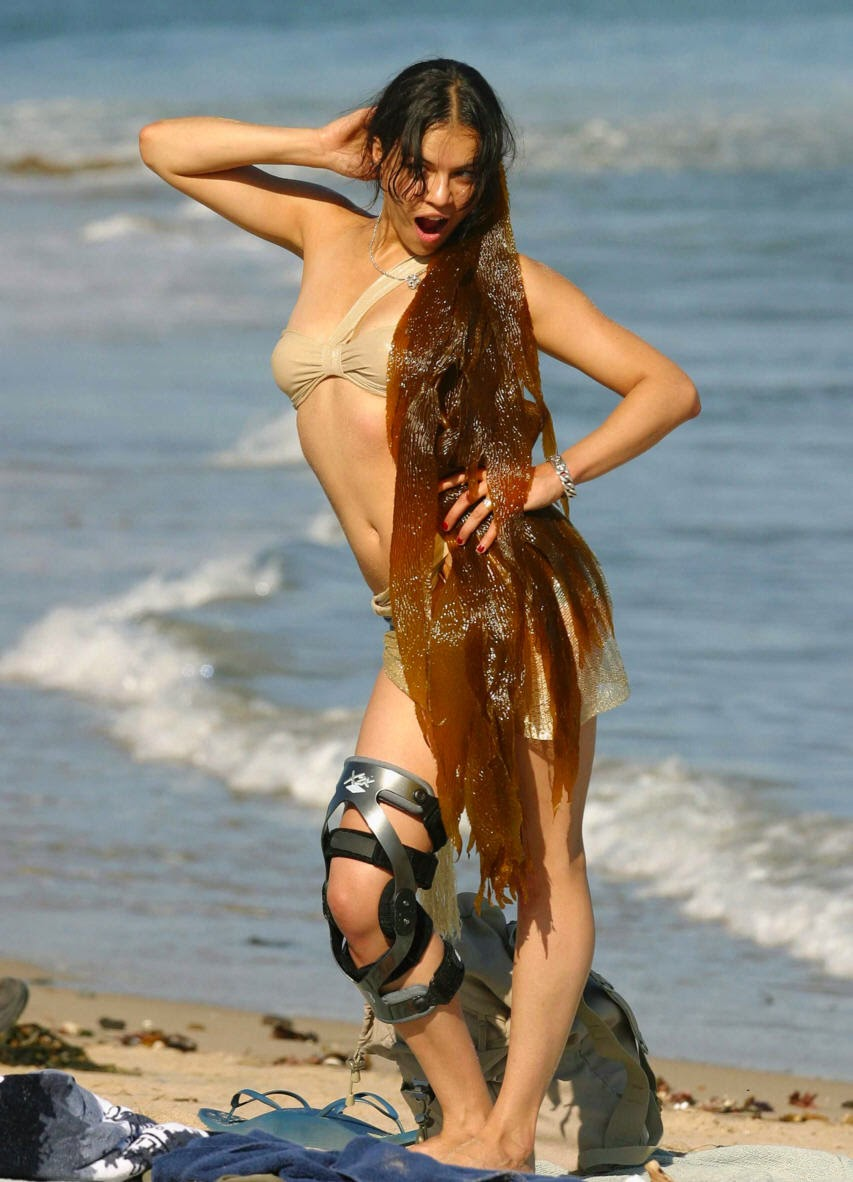 Michelle Rodriguez at beach