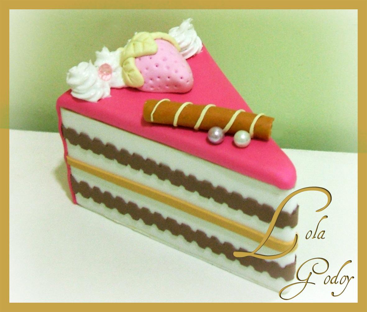 Redecorate con lola godoy cajita con forma de tarta de - Adornos navidenos de goma eva ...