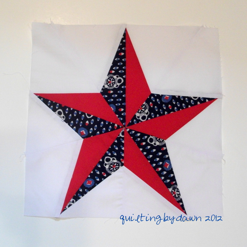 So now there are 16 different paper~pieced stars!