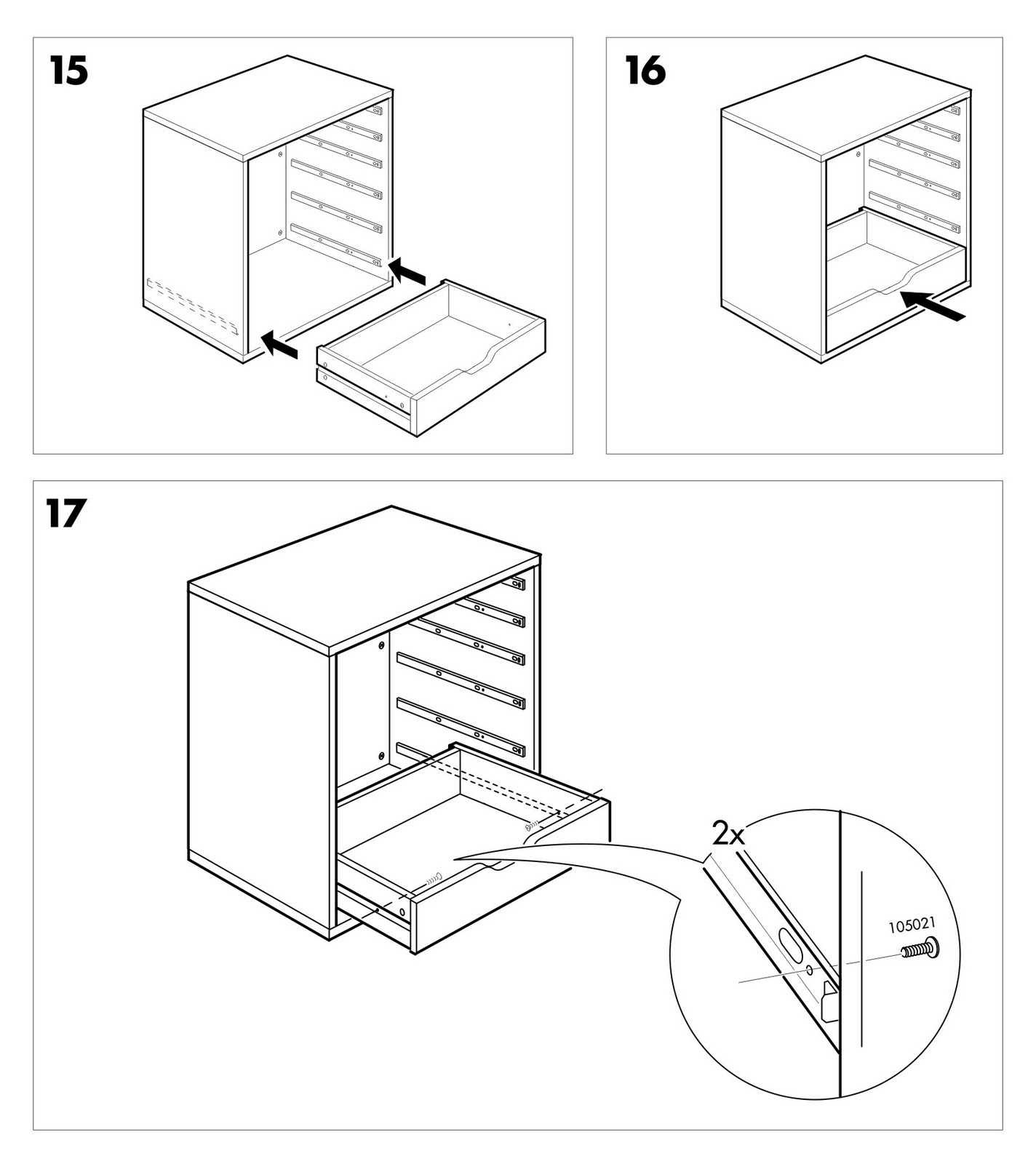 ikea drawer assembly instructions