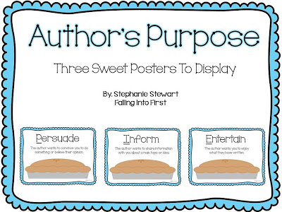 Authors purpose graphic organizer