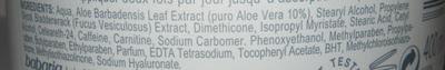 Ingrediente crema anticelulitica Babaria