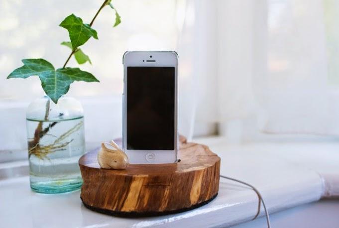Reciclar - Base para móvil de madera handmade1