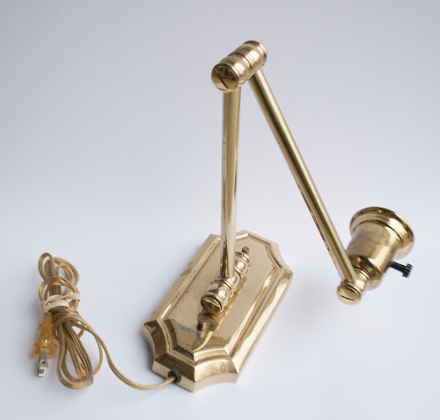 brass extendable wall light fixture