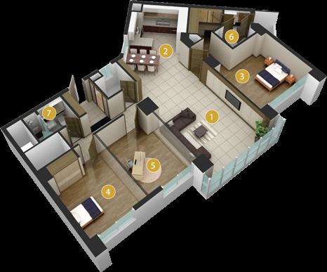 Sơ đồ căn hộ Imperia An Phú 135m 3 phòng ngủ