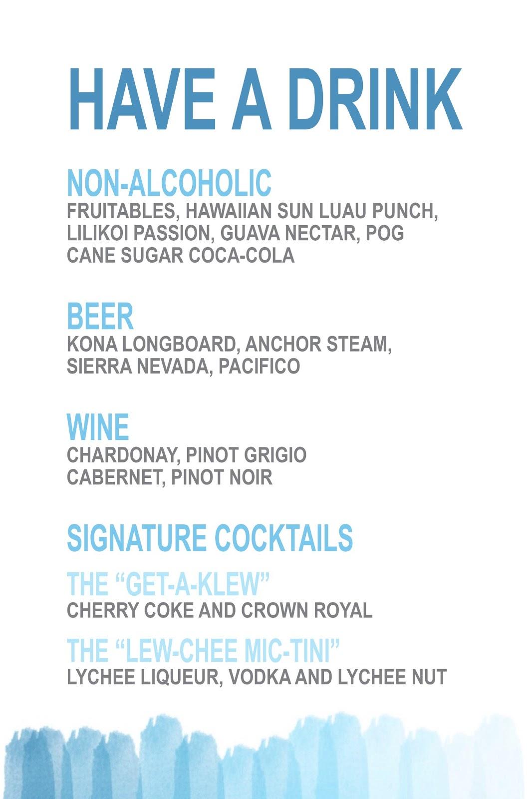Bar Drink Menu Template Drink menu template - viewing