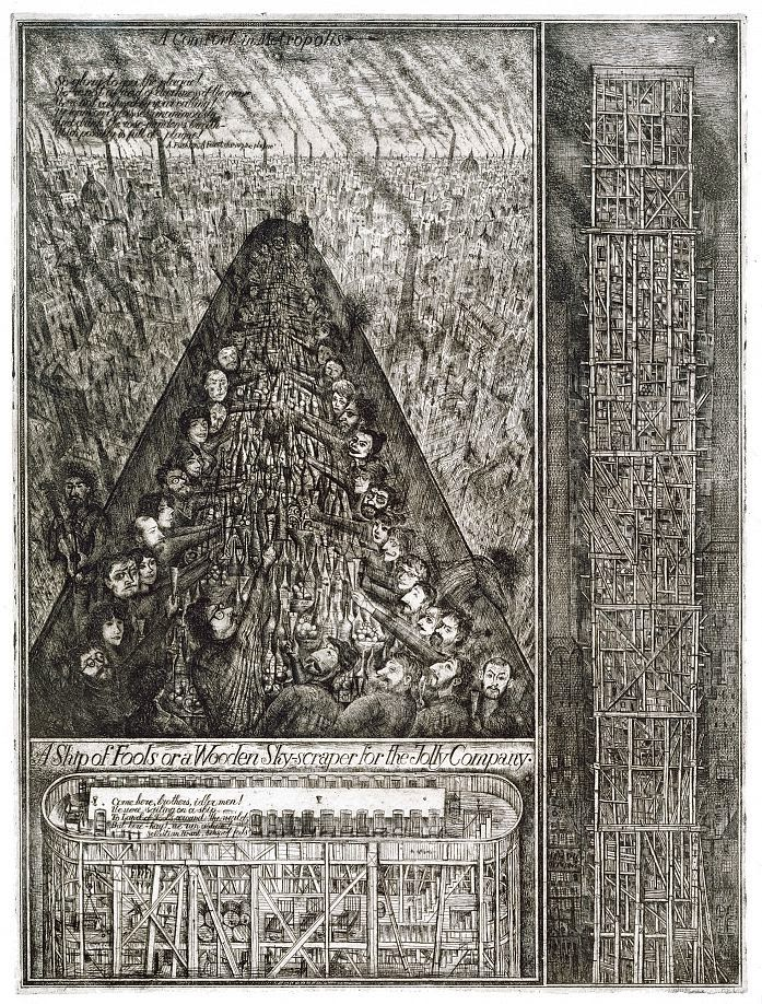 Alexander Brodsky and Ilya Utkin, Ship of Fools, or a Wooden Skyscraper for the Jolly Company
