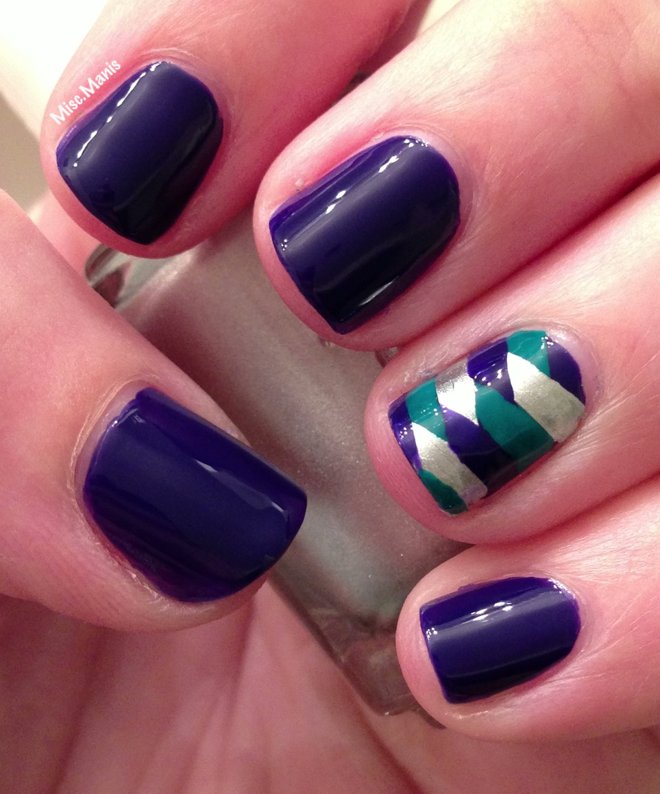 Miscellaneous Manicures: Blue and Green Fish Tail Nails