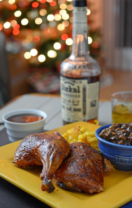 barbecue chicken plate,