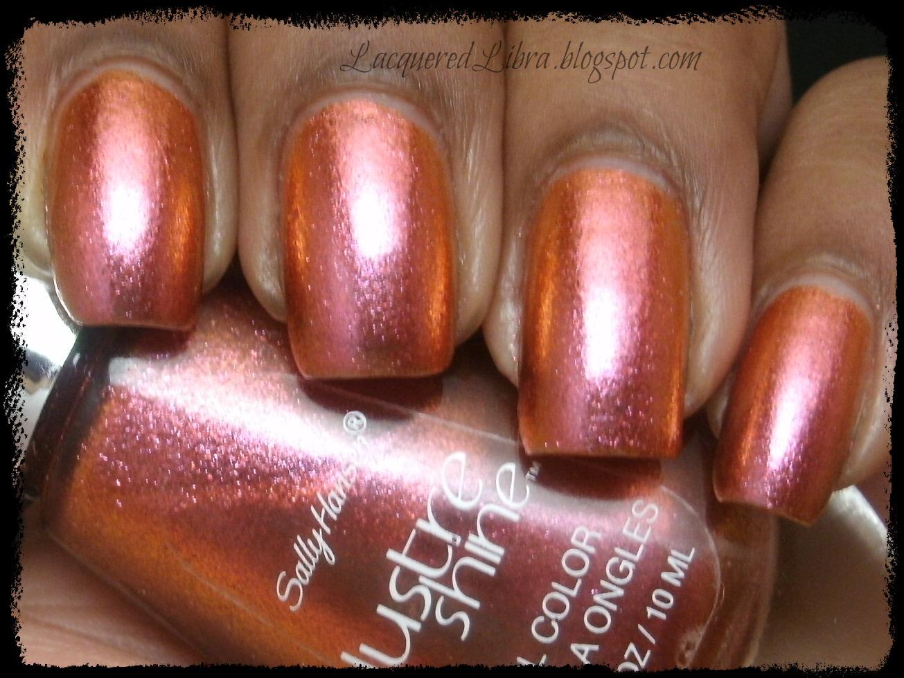 Lacquered Libra: Sally Hansen Lustre Shine Lava