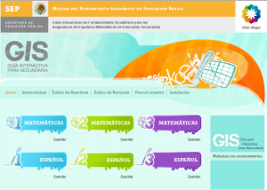 GUIA INTERACTIVA PARA SECUNDARIA (GIS)