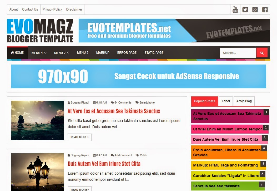 Download Template Blog Seo friendly Terbaru 2015