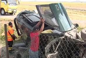Lelaki nyaris maut kenderaan pacuan empat roda dipandunya terbang sejauh hampir 20 meter gara gara terbabas
