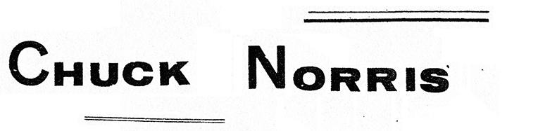 Fanzine Chuck Norris