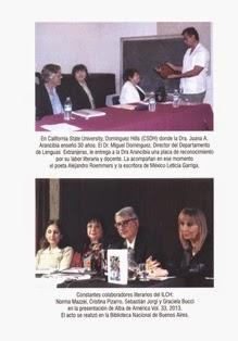 Contra portada de la revista anual Alba de América.Oct.2014,vol 34-35,478 pág.
