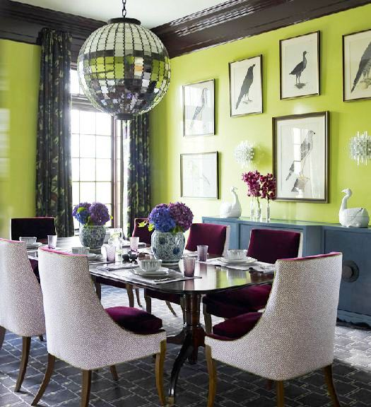 Dining Rooms Green Walls Interior Decorating