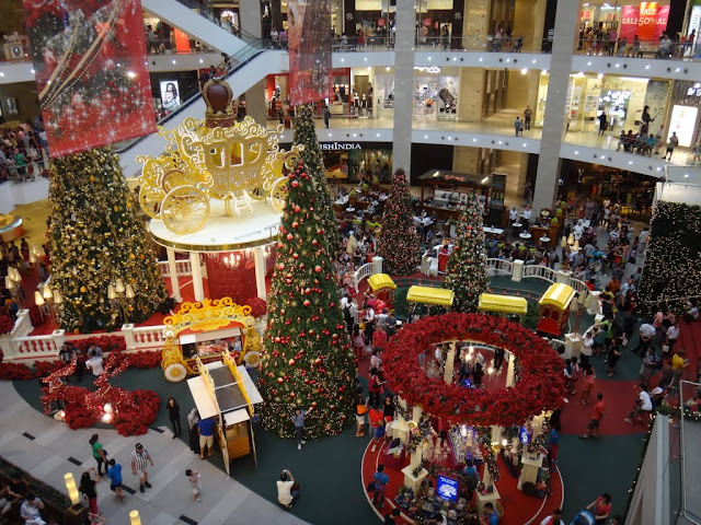 The top view of Christmas Mall Decoration in Pavilion Mall, Kuala Lumpur, MALAYSIA