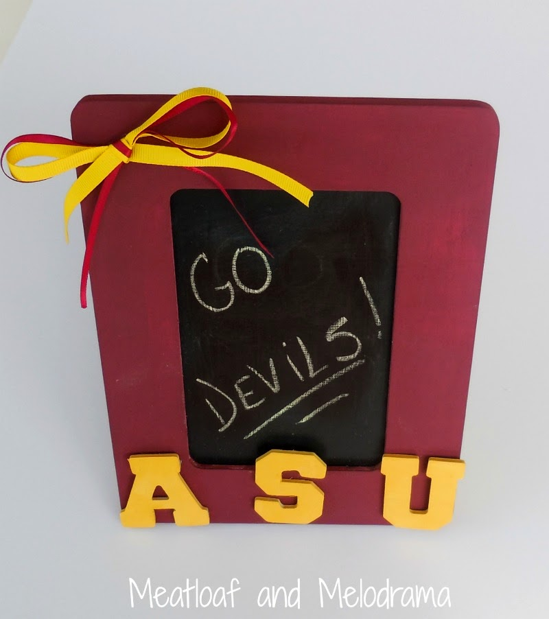 maroon and gold asu mini chalkboard picture frame