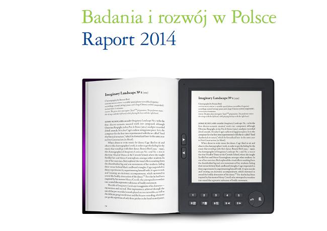 """Fragment okładki publikacji """"Raport: Badania i rozwój (B+R) w Polsce 2014"""" od Deloitte"""