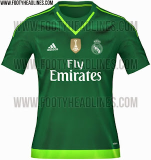Jersey keeper Real madrid away warna hitam musim 2015/2016