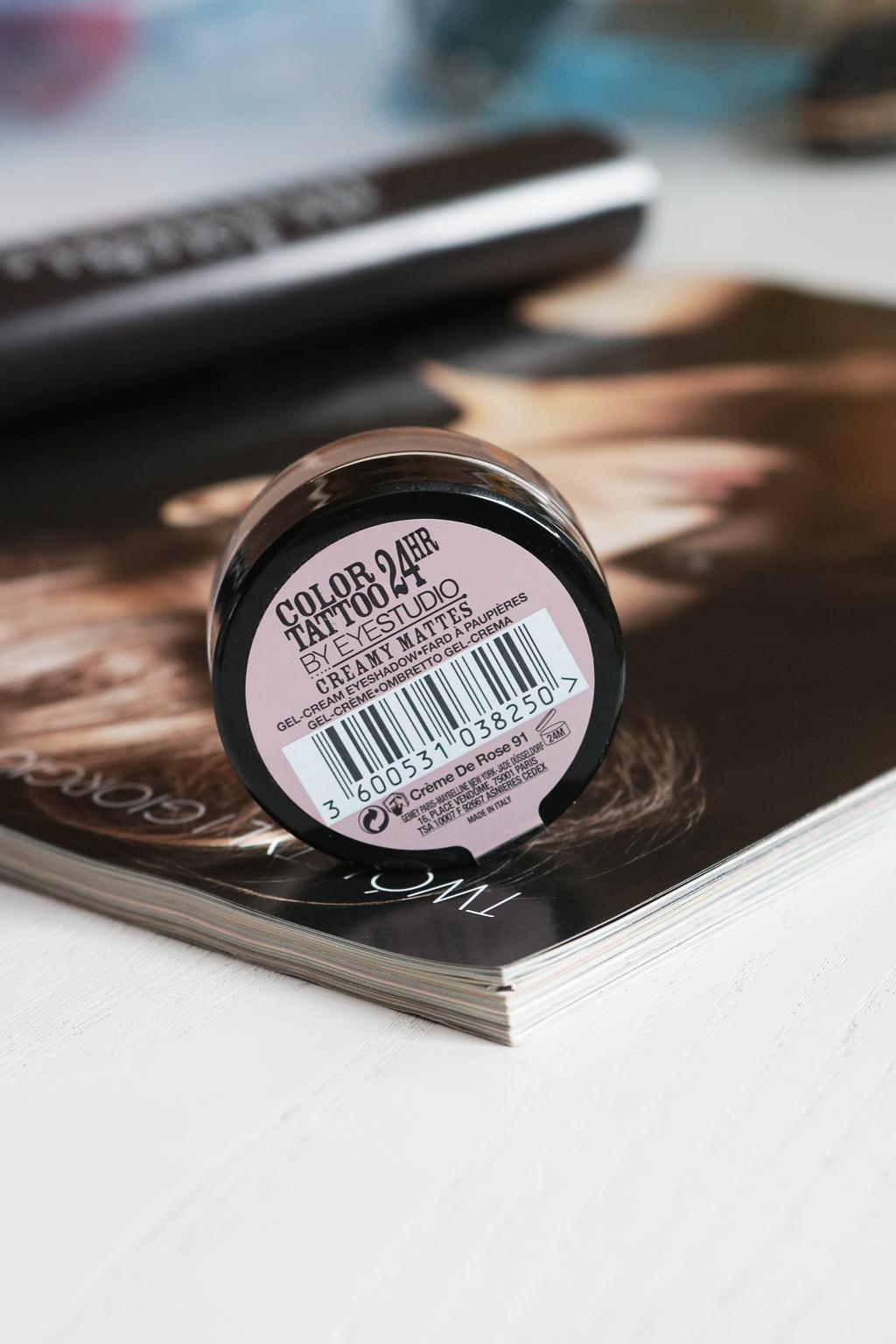 cień color tatoo creme de rose 91