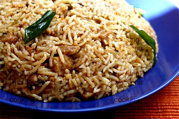 suya chunks cooker biriyani / soya chunks pulao