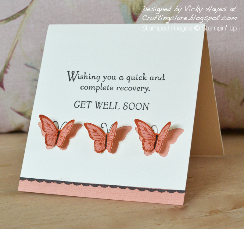 Card made with Stampin Up Papillon Potpourri bundle on special offer