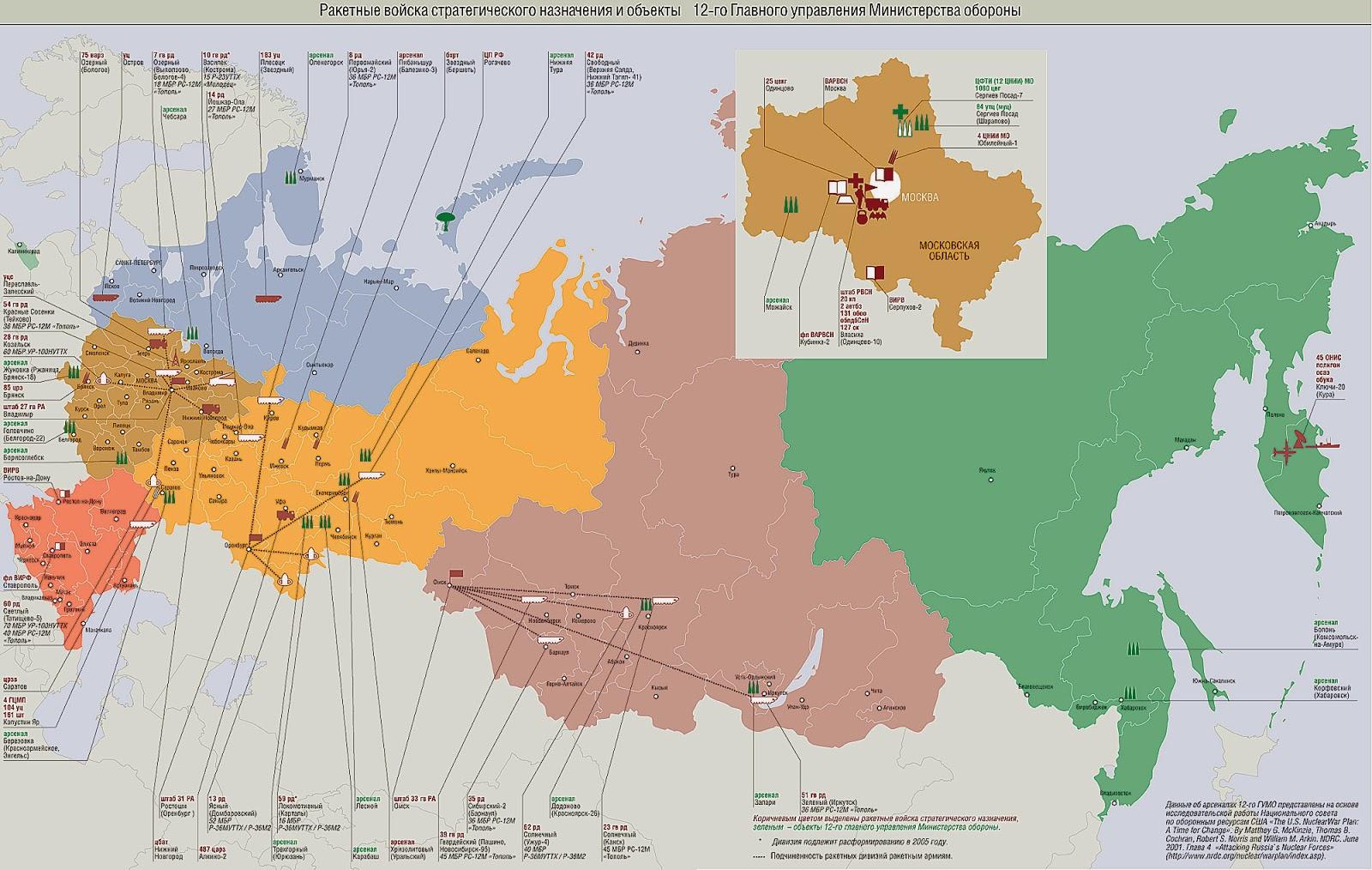 Ракетные войска в россии где находятся