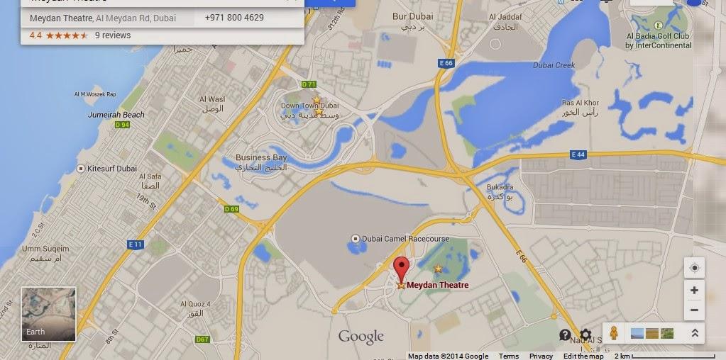 Detail Meydan IMAX Theatre Dubai Location Map