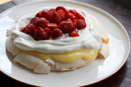 The SoHo: Strawberry and Lemon Curd Pavlova